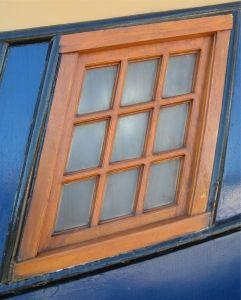 Finestra alluminio e legno.